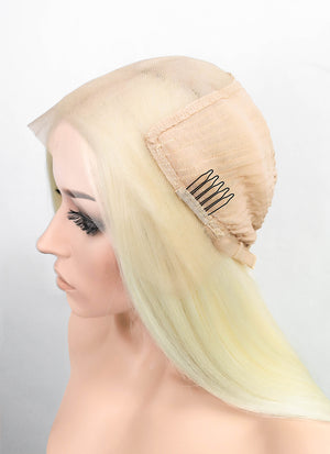 "Light Blonde Straight 13"" x 6"" Lace Top Synthetic Wig LFS008"
