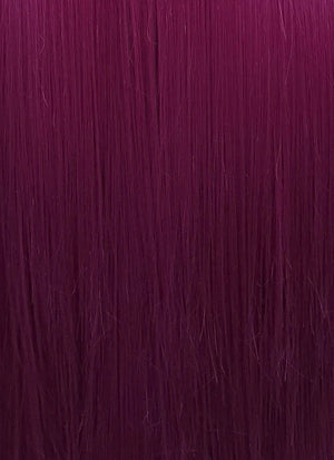 Dark Purple Straight Lace Front Synthetic Wig LN6010