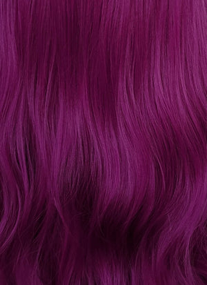 Dark Purple Wavy Lace Front Synthetic Wig LN6011