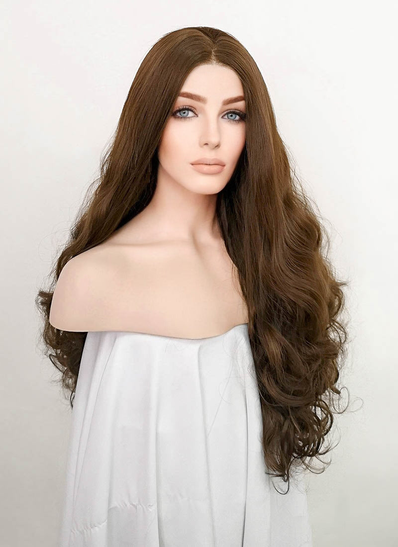 Brown Wavy Lace Front Synthetic Wig LN6018
