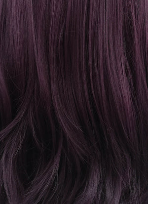 Dark Purple Straight Bob Lace Front Synthetic Wig LNB6000