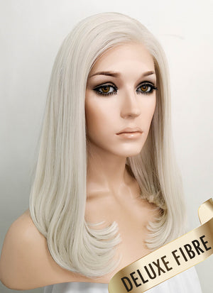 Pastel Blonde Straight Bob Lace Front Synthetic Wig LNK001