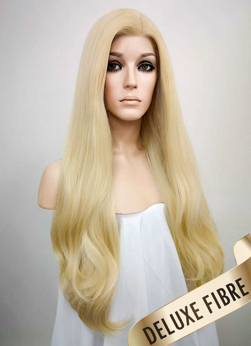 Blonde Wavy Lace Front Synthetic Wig LNK002