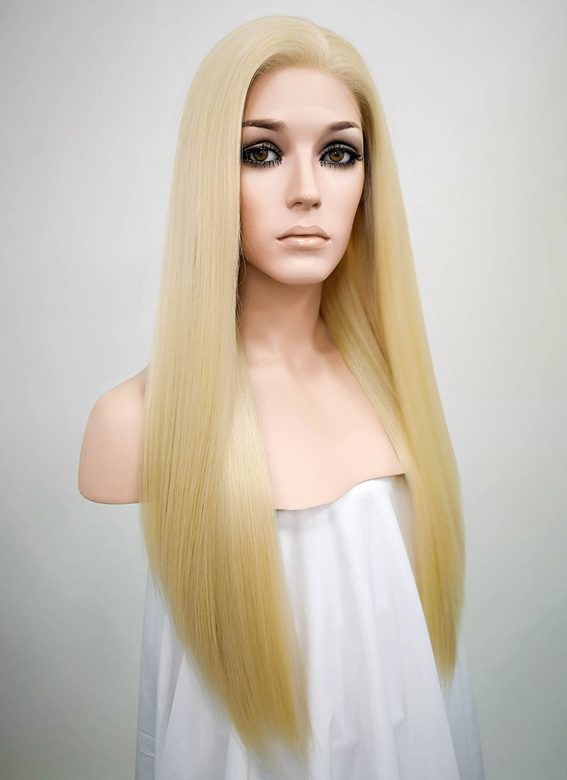 Blonde Straight Lace Front Synthetic Wig LNK003