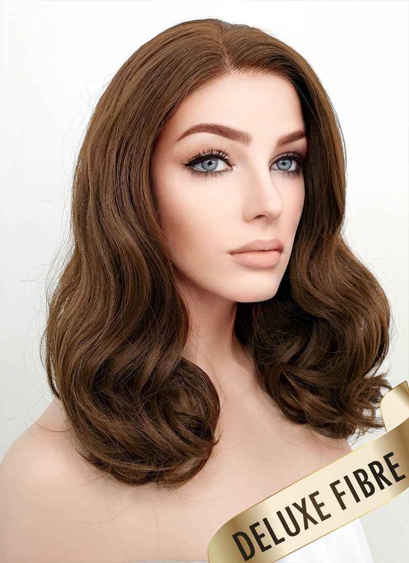 Brown Wavy Bob Lace Front Synthetic Wig LNK007
