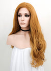 Light Auburn Wavy Lace Front Synthetic Wig LNK008