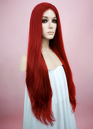 Straight Red Lace Front Synthetic Wig LW150C