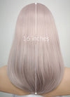 Pastel Pale Plum Straight Bob Lace Front Synthetic Wig LW1514A