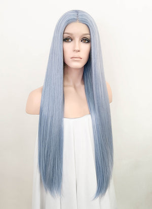 Pastel Blue Straight Lace Front Synthetic Wig LW4003