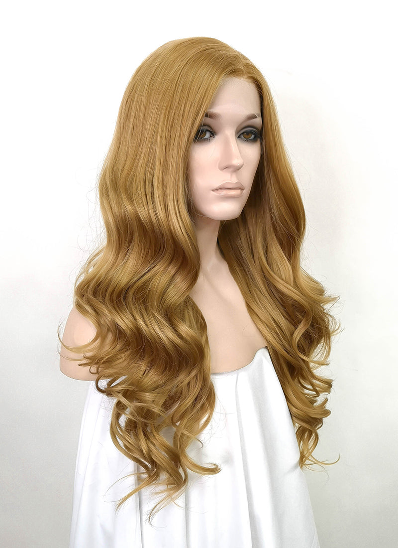 Golden Blonde Wavy Lace Front Synthetic Wig LW4004