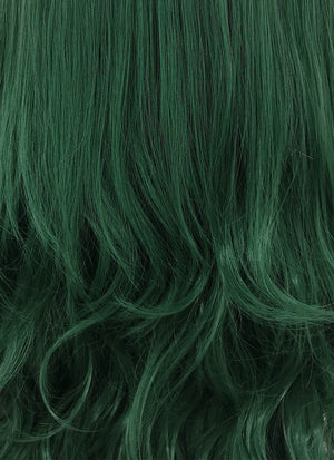 Wavy Deep Sea Green Lace Front Synthetic Wig LF667V
