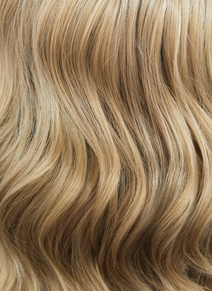 Medium Blonde With Dark Roots Wavy Bob Lace Front Synthetic Wig LW771G