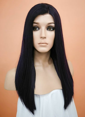 Straight Dark Purple Bob Lace Wig CLW836 (Customisable)