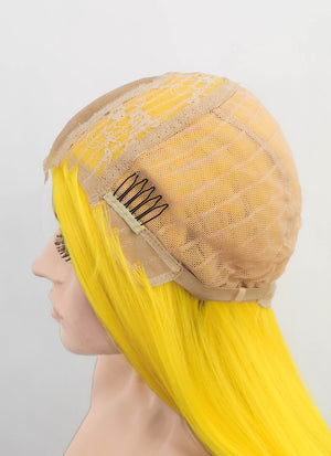 Yellow Straight Synthetic Wig NL021