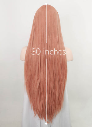 Peach Pink Straight Synthetic Wig NL024