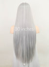 Silver Grey Straight Synthetic Wig NL025