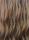 Two Tone Brown Wavy Synthetic Wig NL029