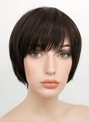 Black Straight Pixie Synthetic Wig NS005