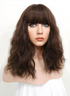 Pastel Pale Plum With Curly Bang Synthetic Wig NS041