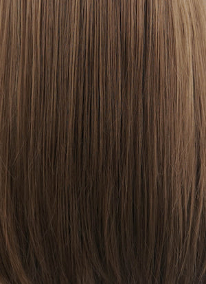 Chestnut Brown With Dark Roots Straight Synthetic Wig NS050