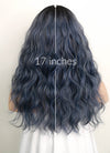 Dark Blue With Dark Roots Wavy Synthetic Wig NS054