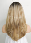 Mixed Blonde With Dark Roots Straight Synthetic Wig NS081