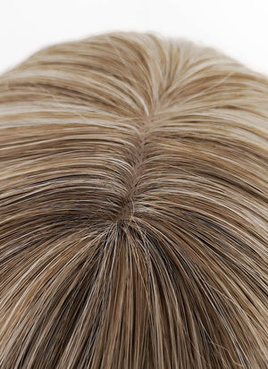 Mixed Light Blonde Wavy Synthetic Wig NS095