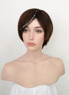 Brunette Straight Pixie Synthetic Wig NS128