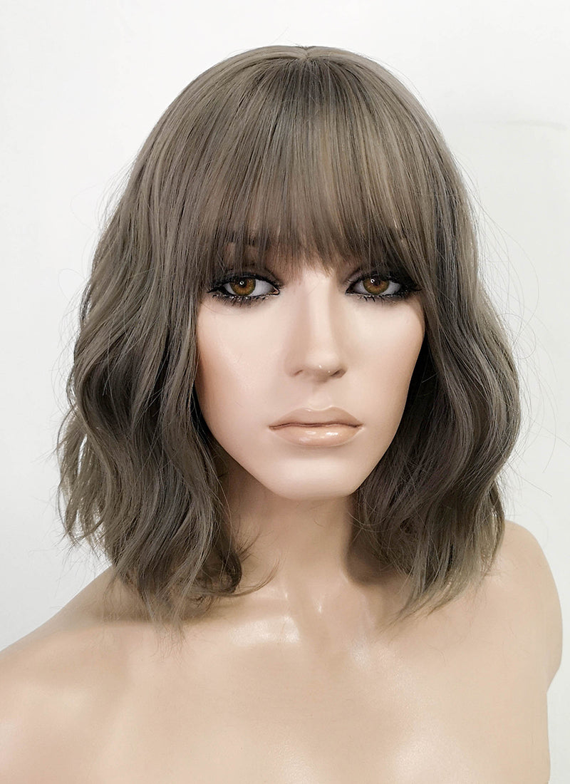 Grey Wavy Bob Synthetic Wig NS153