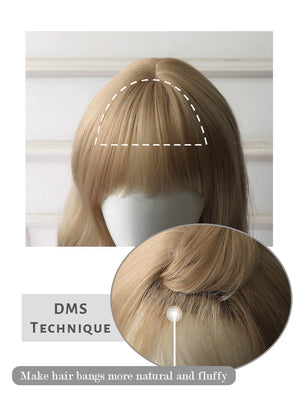 Blonde Wavy Bob Synthetic Wig NS166