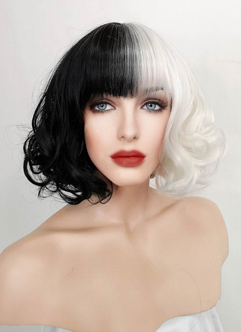 Pastel Grey Straight Bob Synthetic Wig NS200