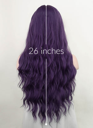 Purple Wavy Synthetic Wig NS201