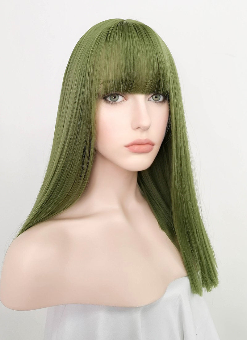 Green Straight Synthetic Wig NS212