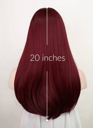 Red Straight Synthetic Wig NS213