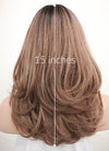 Brown With Dark Roots Wavy Bob Synthetic Wig PN001