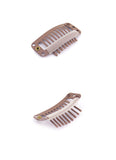 Black / Light Brown / Dark Brown / Cream 9 Teeth Snap Clips