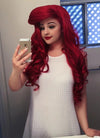 Wavy Red Lace Front Synthetic Wig LF085