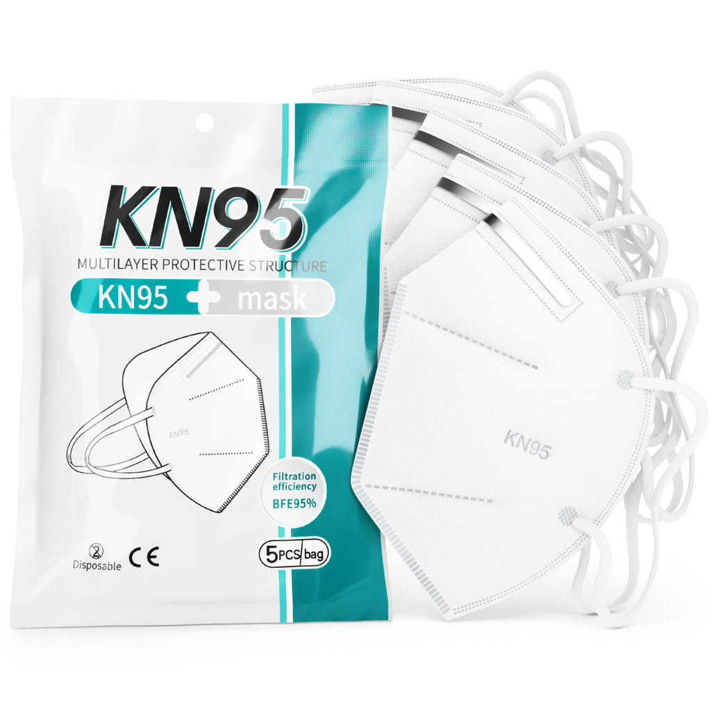 KN95 Face Mask 5-Layer | CE/ECM Certified | GB2626 Standard | 5pk