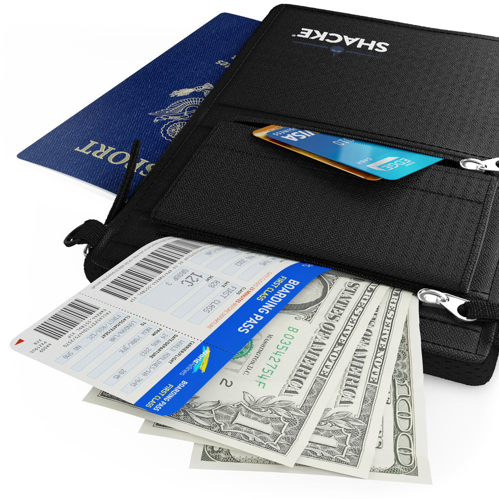 2 in 1 Belt & Neck Wallet Hybrid - RFID Passport Holder