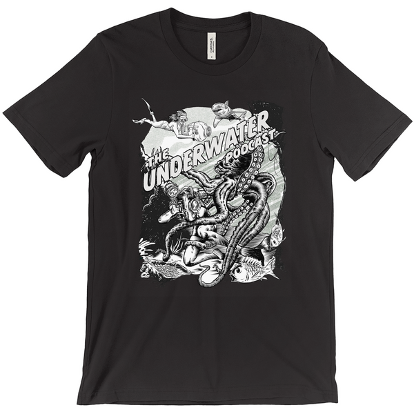 The Underwater Podcast T-Shirts - Black