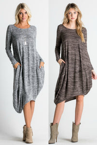 Asymmetrical Hem Sweater Dress