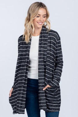 Striped Knit Super Soft Cardigan