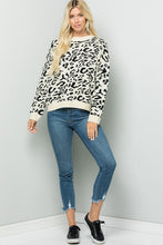 Load image into Gallery viewer, Mock Neck Leopard Sweater