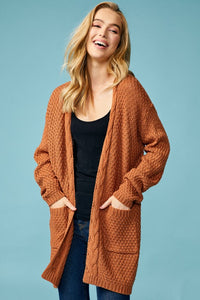 Cable Knit Waffle Cardigan