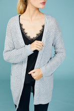 Load image into Gallery viewer, Cable Knit Waffle Cardigan