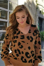 Load image into Gallery viewer, V-Neck Leopard Print Sweater