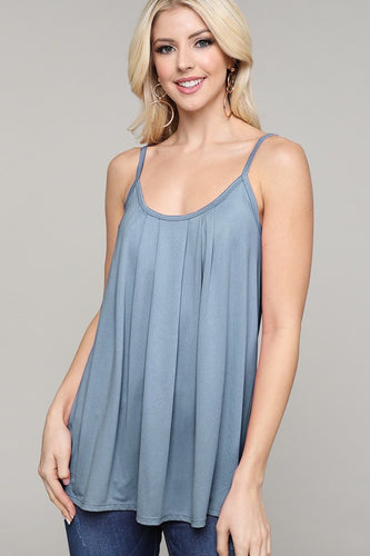 Pleated Front Tank Top