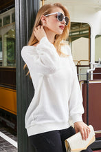 Load image into Gallery viewer, V-Neck Long Sleeve Waffle Knit Top