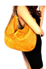 Load image into Gallery viewer, Woven 2-Way Hobo Bag