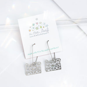 A Tea Leaf Jewelry - Oregon Geometric Earrings | Stainless Steel
